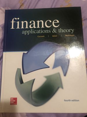 Finance applications & theory 4th edition for Sale in Nashville, TN
