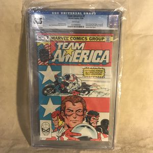 Team America Action Figure Variant Reprint Marvel Comics 1982 CGG Graded 6.5. for Sale in Seattle, WA