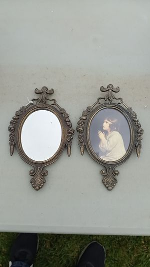 Made in italy antique mirror and frame combo for Sale in Chino Hills, CA