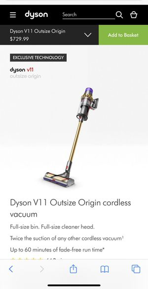BRAND NEW/SEALED Dyson V11 Outsize Origin cordless vacuum Full-size bin. Full-size cleaner head. Twice the suction of any other cordless vacuum¹ Up for Sale in Los Angeles, CA