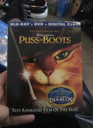 Puss In Boots - Dreamworks (BluRay + DVD) for Sale in Chino Hills, CA