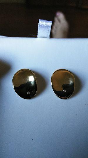 14k diamond accent earrings for Sale in Los Angeles, CA