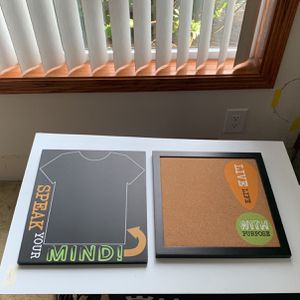 Chalkboard 11x12.5 And Corkboard 12x12 Like New for Sale in Gresham, OR