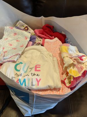 Bag full of baby girl clothes for Sale in Vancouver, WA