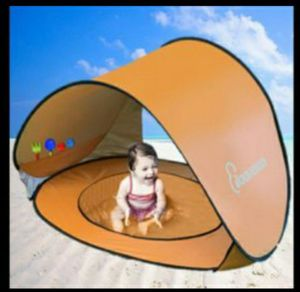 Beach Tent for Baby with UV Protection Baby Pool Canopy splash area good for park outside camping fun without sun for Sale in San Bernardino, CA
