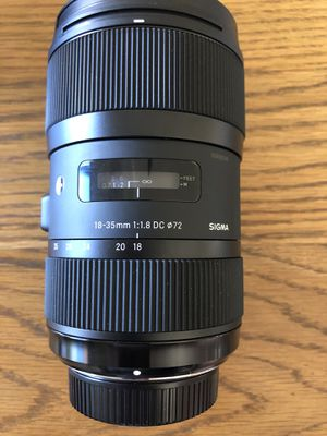 Sigma 18-35mm f1.8 lens Nikon EF mount, excellent condition. $699 new. Yours for $450. for Sale in San Juan Capistrano, CA
