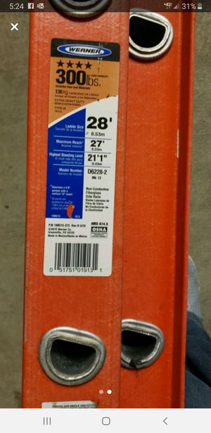 Warner 28ft extension ladder for Sale in Richland, WA
