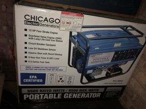 New Chicago Electric Portable Generator 5500 watts for Sale in Bolingbrook, IL