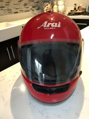 Arai motorcycle helmet red good condition for Sale in San Diego, CA