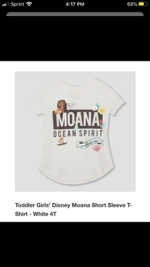Toddler girls Disney Moana t shirt 2t , 3T , 4T for Sale in Fontana, CA