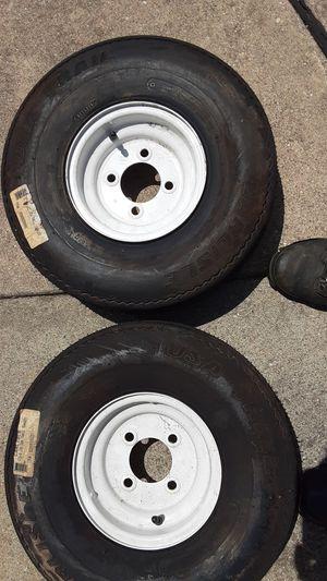 Trailer tires 570 - 8 for Sale in Wyandotte, MI