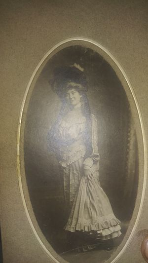 Antiwue black abd white photo of a prodominent bictirian lady of the era. for Sale in Long Beach, CA
