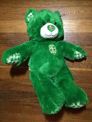 Build a bear plush teddy bear shamrock clover Patrick green for Sale in Queens, NY