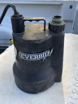 Everbuilt Utility Pump for Sale in Garland, TX