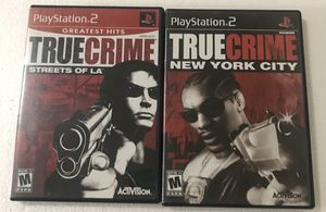 True Crime PlayStation 2 Game Bundle for Sale in Reading, PA