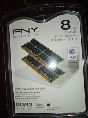 PNY 8GB PC Dual Channel Memory Kit for Sale in Pataskala, OH