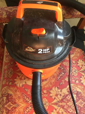Armor All VOM205P 0901 Wet/Dry Canister Vacuum - Bagless - Foam Filter/ - Black/orange for Sale in Washington, DC