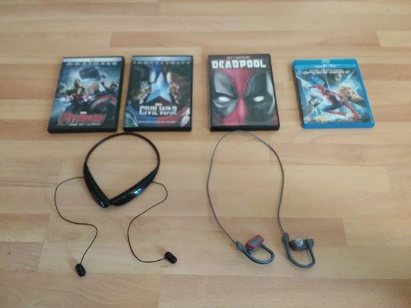 4 Marvel Movies and 2 Bluetooth Earbuds