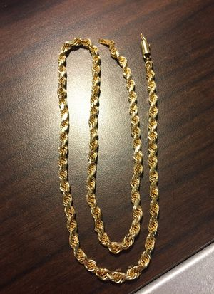 Gold rope chain 5mm for Sale in Portland, OR