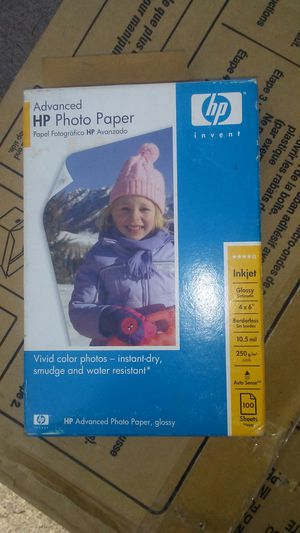 hp photo printing paper for Sale in Sioux Falls, SD