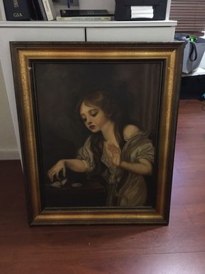 Large lady on canvas portrait for Sale in St. Petersburg, FL