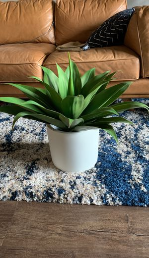 Fake Plant + Ceramic White Pot for Sale in Tacoma, WA