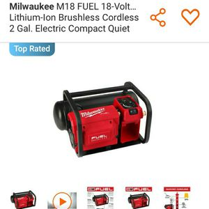 Milwaukee Fuel Air Compressor Combo for Sale in Tacoma, WA