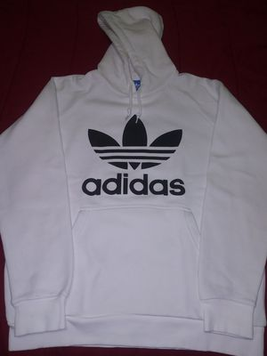Adidas Classic Logo White Hoodie Sweater for Sale in Miami, FL