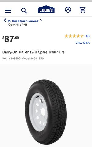 Trailer tires Sport Trail (PAIR OF TWO TIRES & WHEELS) for Sale in Las Vegas, NV