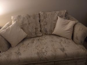Loveseat sleeper sofa and ottoman for Sale in Germantown, MD