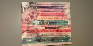 Large Fashion Watercolor Canvas Purchased at Z Gallerie Beverly Hills for Sale in Phoenix, AZ