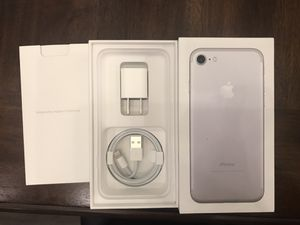 iPhone 7 box with charger and cord for Sale in Harrisburg, PA