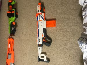 7 different nerf guns in a bundle for Sale in Bowie, MD