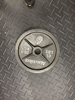 45 pound cast iron weight plates. I have 4 to sell, 65 each. Cash abs carry for Sale in Pompano Beach, FL