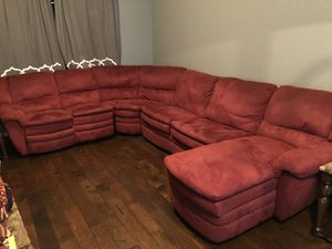 Sectional couch with reclining chair for Sale in Houston, TX