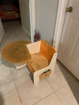 Kids table with chair for Sale in Tampa, FL