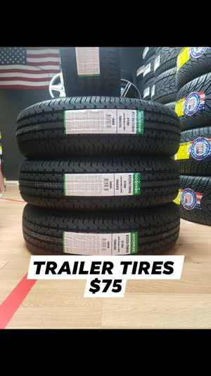 $75-225/75/15 Trailer Tires 10 ply for Sale in Katy, TX