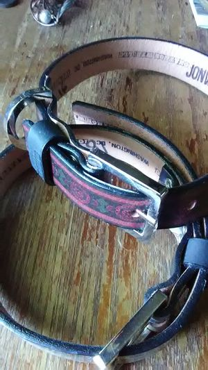 Two JonWye Leather Dog Collars for Sale in Capitol Heights, MD