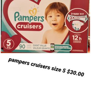 Pampers Cruisers Size 5 for Sale in Los Angeles, CA