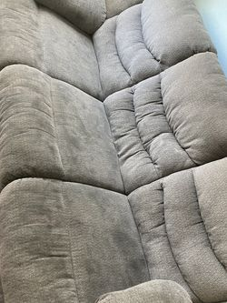 Gray Recliner 3 Seat Couches And Recliner Loveseat for Sale in Hawthorne,  CA