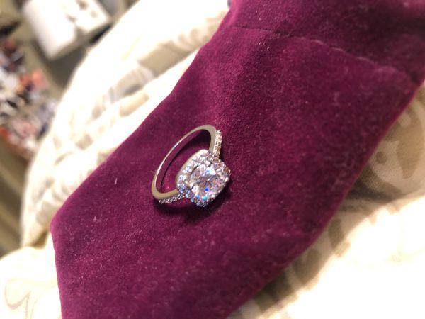 Cubic zirconium size 7 ring