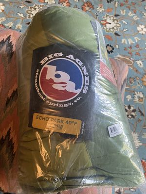brand new Big Agnes male sleeping bag, 40*, tall for Sale in Oak Brook, IL