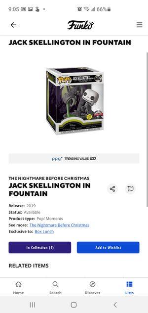 Funko Pop. Jack Skellington for Sale in Spring Valley, CA