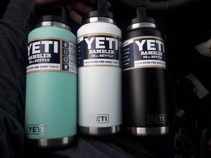 Yeti Ramblers three 36 0z Bottles! for Sale in Las Vegas, NV