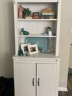 IKEA White Hutch With Cabinet Storage for Sale in Leesburg,  VA