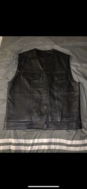 Leather Motorcycle Vest for Sale in McClellan Park, CA