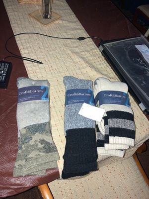 Croft and barrow boot socks men 7-12 6 pairs for Sale in Silver Spring, MD