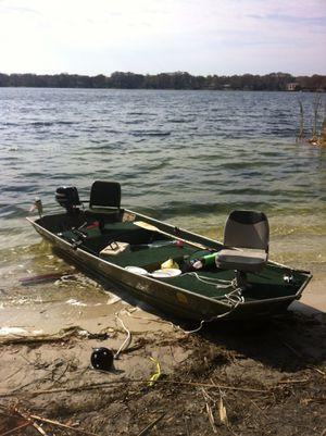 12 Ft. Grumman Jon boat w/motor & trailer for Sale in Winter Park, FL