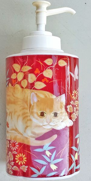 Takahashi CATHY marmalade orange tabby cat soap dispenser ca. 1984 ! made in japan for Sale in Saginaw, MI