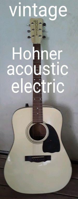 Vintage Hohner MIJ acoustic electric guitar for Sale in Mt. Juliet, TN